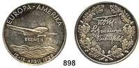 M E D A I L L E N,Luftfahrt - Raumfahrt Flugzeuge Silbermedaille 1928 (Tobias Schwab).  Auf den Ost-West-Ozeanflug der