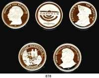 M E D A I L L E N,Städte Potsdam Etui mit 5 Silbermedaillen 1993 (999/1000).  Zur 1000 Jahrfeier der Stadt.  40 mm.  19 g.  Im Originaletui.