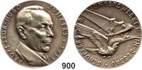 M E D A I L L E N,Luftfahrt - Raumfahrt Flugzeuge Silbermedaille 1935 (Karl Goetz).  Professor Hugo Junkers - Schöpfer der Junkerswerke in Dessau.  Rand: BAYER. HAUPTMÜNZAMT. FEINSILBER.   Kienast 515.  36 mm.  19,77 g.
