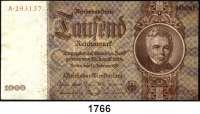 P A P I E R G E L D,R E I C H S B A N K  1000 Reichsmark 22.2.1936.  G...A.  Ros. DEU-212.
