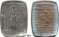 M E D A I L L E N,Städte Berlin Bronzegußplakette 1956.  Festwochen des Berliner Handwerks.  Rückseitentext :