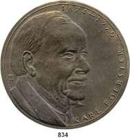 M E D A I L L E N,Personen Foerster, Karl Bronzegußmedaille o.J. (Wolfgang Güntzel).  Kopf nach rechts. /