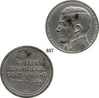 M E D A I L L E N,Personen Stauffenberg, Claus Graf Schenk von (*1907, +1944) Zinnmedaille 2004 (G.G.).  Zum 60. Todestag.  Brustbild nach links. /