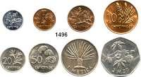 AUSLÄNDISCHE MÜNZEN,Moçambique  SATZ von 8 Münzen 1975.  1 Centimo bis 2 1/2 Meticas.  Diese Stücke gelangten wegen der unterbliebenen Währungsumstellung nicht in den Zahlungsverkehr.  Schön 31 bis 38.  KM 90 bis 97.