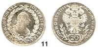 Römisch Deutsches Reich,Haus Habsburg Josef II. 1765 - 1790 20 Kreuzer 1781 F, Hall.  6,68 g.  Herinek 253.  KM 2068.2.