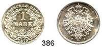 R E I C H S M Ü N Z E N,Kleinmünzen  1 Mark 1875 F.