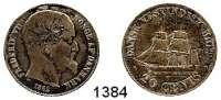 AUSLÄNDISCHE MÜNZEN,Dänisch Westindien  20 Cents 1862.  Hede 19.  Sieg 19.  Kahnt/Schön 14.  KM 67..