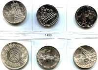 AUSLÄNDISCHE MÜNZEN,Israel  Lira 1960, 1962; 5 Lirot 1961, 1962, 1964 und Ägypten, Pfund 1970/72.  LOT 6 Stück.