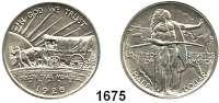 AUSLÄNDISCHE MÜNZEN,U S A  Gedenk Half Dollar 1926 S, San Francisco.  Oregon Trail.  Schön 165.  KM 159.