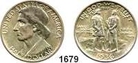 AUSLÄNDISCHE MÜNZEN,U S A  Gedenk Half Dollar 1936, Philadelphia.  Daniel Boone.  Schön 171.  KM 165.