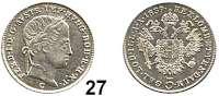 Österreich - Ungarn,Habsburg - Lothringen Ferdinand I., 1835 - 1848 5 Kreuzer 1839 C, Prag.  Frühwald 878.  Jl. 242.  Herinek 342.  KM 2196.