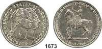 AUSLÄNDISCHE MÜNZEN,U S A  Gedenk Dollar 1900.  Lafayette.  Schön 126.   KM 118