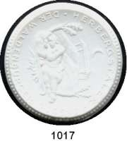 P O R Z E L L A N M Ü N Z E N,Spendenmünzen mit Talerbezeichnung Waldenburg Herbergstaler o.J.(1922) weiß.  Jugend - Herberge.