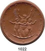 P O R Z E L L A N M Ü N Z E N,Spendenmünzen mit Talerbezeichnung Waldenburg Kinderhilfstaler o.J.(1922) braun.  Kinderhilfe.