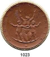 P O R Z E L L A N M Ü N Z E N,Spendenmünzen mit Talerbezeichnung Waldenburg Kinderhilfstaler o.J.(1922) braun mit Goldrand.  Kinderhilfe.