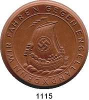 MEDAILLEN AUS PORZELLAN,Staatliche Porzellan-Manufaktur MEISSEN München 1940 braun.  Beginn des Einmarsches im Westen.