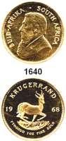 AUSLÄNDISCHE MÜNZEN,Südafrika Republik, seit 1961 Krugerrand 1968 (31,1g fein).  Schön 105.  KM 73.  Fb. B 1.  GOLD.