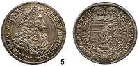 Römisch Deutsches Reich,Haus Habsburg Leopold I. 1657 - 1705 1/2 Taler o.J., Hall.  14,04 g.  Herinek 798.