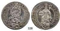 Deutsche Münzen und Medaillen,Salzburg, Erzbistum Maximilian Gandolph von Kuenburg 1668 - 1687 Taler 1680.  28,55 g.  Dav. 3508.  Zöttl 2001.  Probszt 1661.