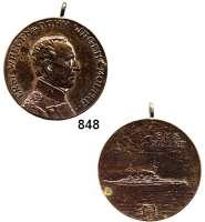 M E D A I L L E N,Personen Moltke, Helmuth Graf von (+1891) Bronzemedaille o.J. (C. Kühl). ERST·WAEGEN = DANN·WAGEN * MOLTKE·, Brustbild rechts. // S.M.S./