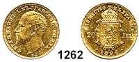 AUSLÄNDISCHE MÜNZEN,Bulgarien Ferdinand I. 1887 - 1918 20 Leva 1894.  (5,8g fein).  Schön 20.  KM 20.  Fb. 3.  GOLD