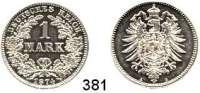 R E I C H S M Ü N Z E N,Kleinmünzen  1 Mark 1874 A