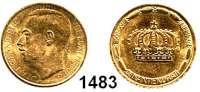 AUSLÄNDISCHE MÜNZEN,Luxemburg Charlotte 1919 - 1964 20 Francs-Goldmedaille 1964  (5,8g fein).  Krönung.  KM M 4 b.  GOLD
