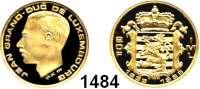 AUSLÄNDISCHE MÜNZEN,Luxemburg Johann 1964 - 2000 20 Francs 1989 (5,8g fein).  Schön 58.  KM 64.  Fb. 12.  GOLD