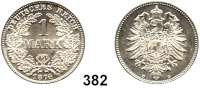 R E I C H S M Ü N Z E N,Kleinmünzen  1 Mark 1874 D.