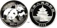 AUSLÄNDISCHE MÜNZEN,China Volksrepublik seit 1949 300 Yuan 2008.  (Silber, 1 Kilogramm).  Panda mit Jungtier.  Schön 1671.  KM 1820.  Im Originaletui mit Zertifikat.