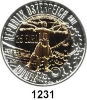 AUSLÄNDISCHE MÜNZEN,E U R O  -  P R Ä G U N G E N Österreich 25 Euro 2011 (Bi-Metall Silber/Niob).  Robotik.  Schön 383.  KM 3204.  Im Originaletui mit Zertifikat.