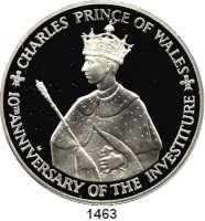 AUSLÄNDISCHE MÜNZEN,Jamaika  25 Dollars 1979.  Prinz Charles.  Schön 47.  KM 81.  Im Originaletui mit Zertifikat.