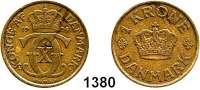 AUSLÄNDISCHE MÜNZEN,Dänemark Christian X. 1912 - 1947 1 Krone 1924.  Schön 41.  KM 824.1.