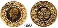 AUSLÄNDISCHE MÜNZEN,Türkei Republik seit 1923 100 Kurush 2003  (6,43g fein).  Schön 386.  KM 872.  Fb. 96.  GOLD