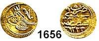 AUSLÄNDISCHE MÜNZEN,Türkei Mahmud II. 1808 - 1839 1/4 Zeri Mahbub 1223/5  (0,81g).  KM 605.  Fb. 3.  GOLD