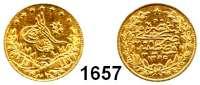 AUSLÄNDISCHE MÜNZEN,Türkei Abdul Mejid, 1839-1861 50 Kurush 1255/7 (3,31g fein).  Kahnt/Schön 118.  KM 678.  Fb. 19.  GOLD