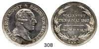 Deutsche Münzen und Medaillen,Sachsen Friedrich August I. (1763) 1806 - 1827 Ausbeutesterbetaler 1827 S, Dresden, auf seinen Tod.  Kahnt 430.  Thun 306.  AKS 56.  Jg. 45.  Dav. 864.