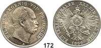 Deutsche Münzen und Medaillen,Preußen, Königreich Wilhelm I. 1861 - 1888 Vereinstaler 1866 A, Berlin.  Kahnt 388.  Thun 270.  Jg. 96.  AKS 99.  Dav. 782.