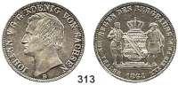Deutsche Münzen und Medaillen,Sachsen Johann 1854 - 1873 Ausbeutevereinstaler 1864 B, Dresden.  Kahnt 471.  Thun 349.  AKS 135.  Jg. 127.  Dav. 896.