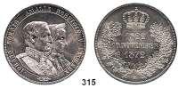 Deutsche Münzen und Medaillen,Sachsen Johann 1854 - 1873 Vereinsdoppeltaler 1872 B, Dresden.  Goldene Hochzeit.  Kahnt 479.  Thun 352.  AKS 160.  Jg. 133.  Dav. 899.