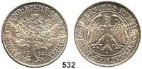 R E I C H S M Ü N Z E N,Weimarer Republik  5 Reichsmark 1932 F.  Eichbaum.