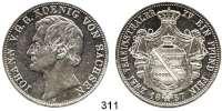 Deutsche Münzen und Medaillen,Sachsen Johann 1854 - 1873 Vereinsdoppeltaler 1857 F.  Kahnt 475.  Thun 338.  AKS 126.  Jg. 109.  Dav. 889.