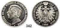 Deutsche Münzen und Medaillen,Schwarzburg - Sondershausen Günther Friedrich Karl II. 1835 - 1880 Vereinstaler 1865.  Kahnt 541.  Thun 400.  AKS 38.  Jg. 75.  Dav. 921.