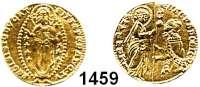 AUSLÄNDISCHE MÜNZEN,Italien Venedig Bartolomeo Gradenigo 1339 - 1342.  Zecchine o.J.  3,54 g.  Fb. 1220.  GOLD