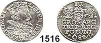 AUSLÄNDISCHE MÜNZEN,Polen Sigismund III. 1587 - 1632 3 Gröscher 1594, Marienburg.  2,34 g.  Iger M 94.1.  Gum. 1021.