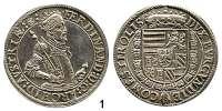 Römisch Deutsches Reich,Haus Habsburg Erzherzog Ferdinand II. 1564 - 1595 Taler o.J.  Hall.  28,16 g.  Voglh.  87.  Dav. 8097.