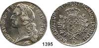 AUSLÄNDISCHE MÜNZEN,Frankreich Ludwig XV. 1715 - 1774 Ecu au bandeau 1768 D, Lyon.  28,95 g.  Dav. 1331.  Ciani 2122.