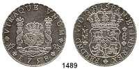 AUSLÄNDISCHE MÜNZEN,Mexiko Ferdinand VI. 1746 - 1759 8 Reales 1758 MM.  26,88 g.  KM 104.2.