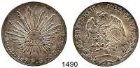 AUSLÄNDISCHE MÜNZEN,Mexiko Republik seit 1867 8 Reales 1889 Ho FG.  Kahnt/Schön 100.  KM 377.9.