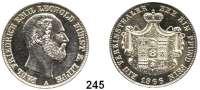 Deutsche Münzen und Medaillen,Lippe Paul Friedrich Emil Leopold 1851 - 1875 Vereinstaler 1866.  Kahnt 283.  Thun 213.  AKS 16.  Jg. 16.  Dav. 725.